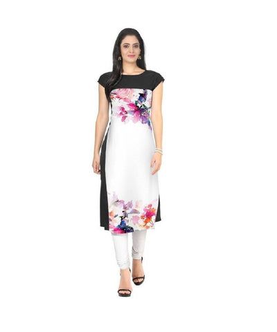 Multi Color Crepe Stitched Kurti  - live-18