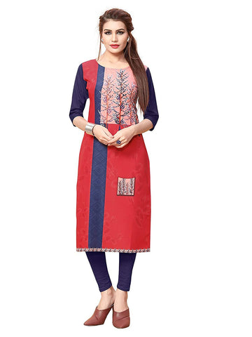 Multi Color Crepe Stitched Kurti  - live-20