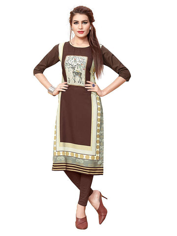 Multi Color Crepe Stitched Kurti  - live-23