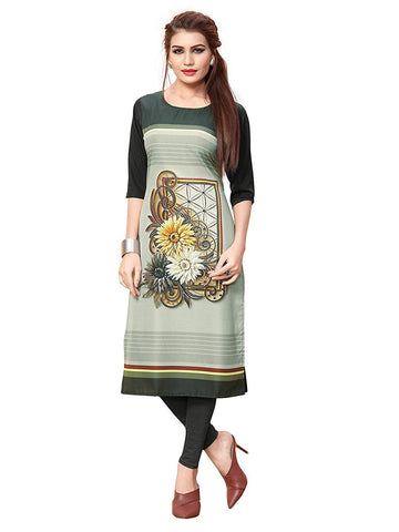 Multi Color Crepe Stitched Kurti  - live-24