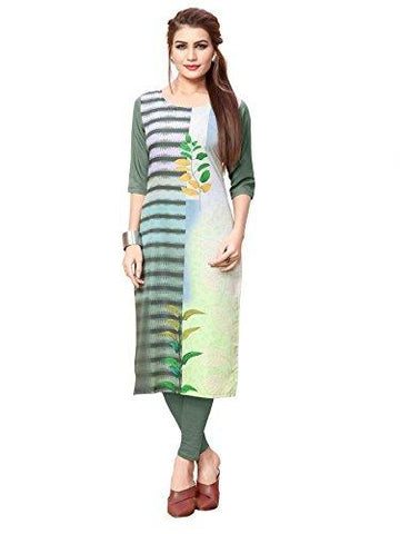Multi Color Crepe Stitched Kurti  - live-40