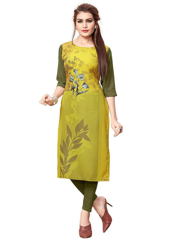 Multi Color Crepe Stitched Kurti  - live-6