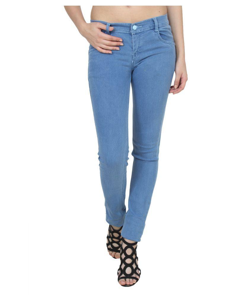 Buy Light Blue Color Denim Womens Jeans