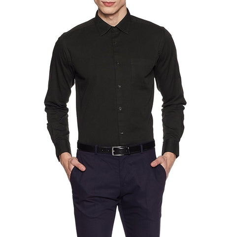 Black Color Cotton Men Shirt - m-3842shrt-Blac-2611-8
