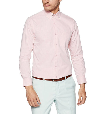 Pink Color Cotton Men Shirt - m-3842shrt-pnk-2611-3