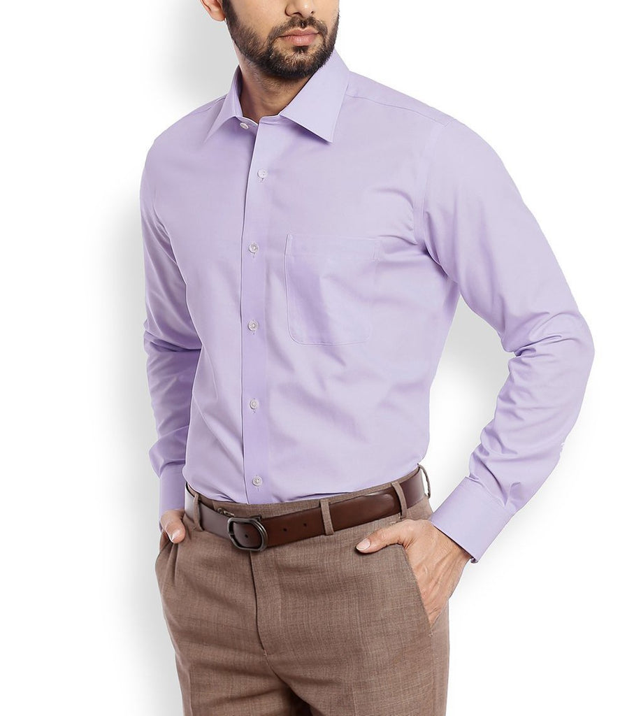 Buy Purple Color Cotton Mens Shirt