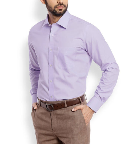 Purple Color Cotton Men Shirt - m-3842shrt-volt-2611-2