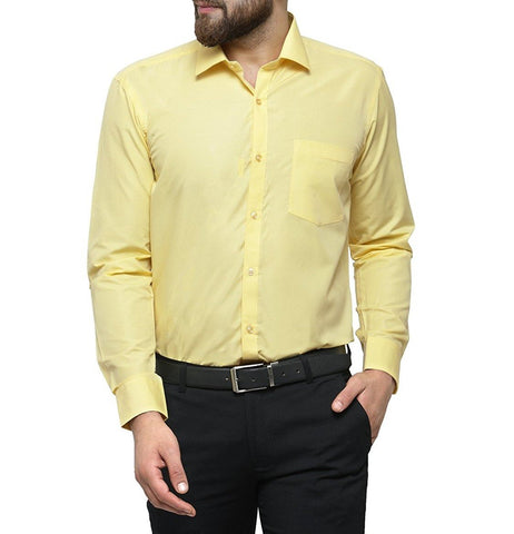 Yellow Color Cotton Men Shirt - m-3842shrt-yelo-2611-1