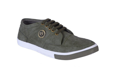 Mehandi Green Color Denim Men Shoe - mahendibakkal