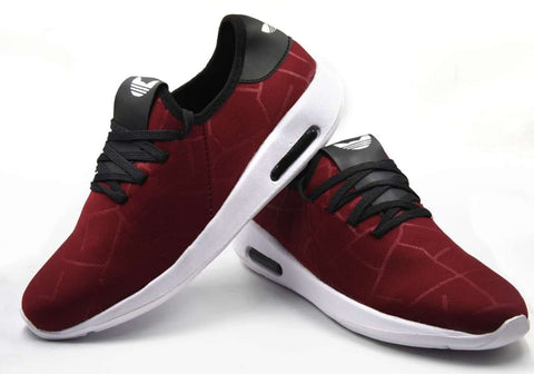 Maroon Color Lycra Men Shoe - mahroommakdi-8