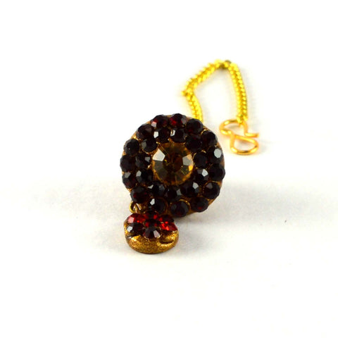 Multi Color Stone Stud-Handmade Pure Lakh Borla - man153