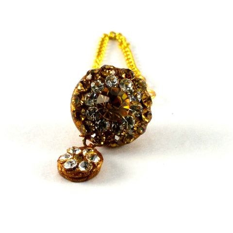 Multi Color Stone Stud-Handmade Pure Lakh Borla - man155