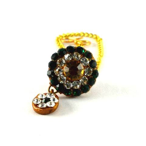 Multi Color Stone Stud-Handmade Pure Lakh Borla - man157