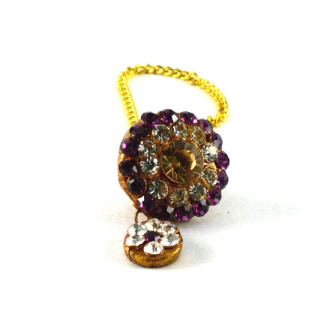 Multi Color Stone Stud-Handmade Pure Lakh Borla - man158