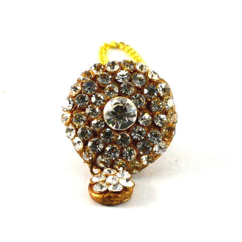 Multi Color Stone Stud-Handmade Pure Lakh Borla - man159