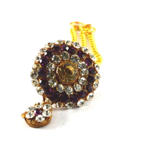 Multi Color Stone Stud-Handmade Pure Lakh Borla - man160