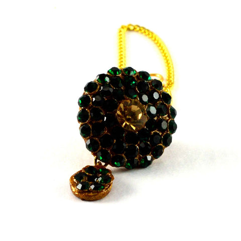 Multi Color Stone Stud-Handmade Pure Lakh Borla - man161