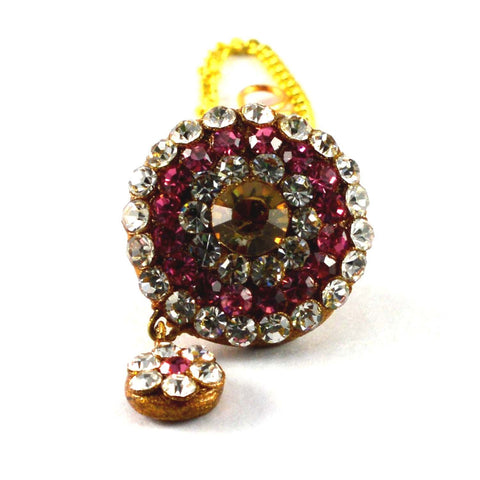 Multi Color Stone Stud-Handmade Pure Lakh Borla - man162
