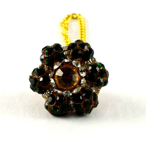 Multi Color Stone Stud-Handmade Pure Lakh Borla - man167