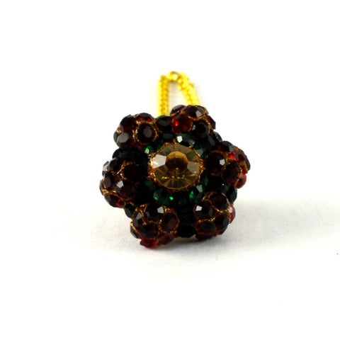 Multi Color Stone Stud-Handmade Pure Lakh Borla - man172