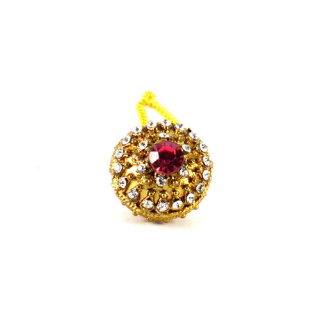 Golden Color Stone Stud-Gold Platted Brass Borla - man199
