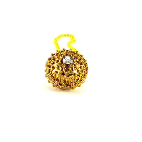 Golden Color Stone Stud-Gold Platted Brass Borla - man200