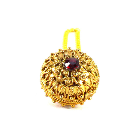 Golden Color Stone Stud-Gold Platted Brass Borla - man201