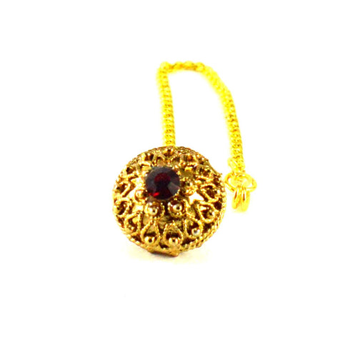Golden Color Stone Stud-Gold Platted Brass Borla - man203