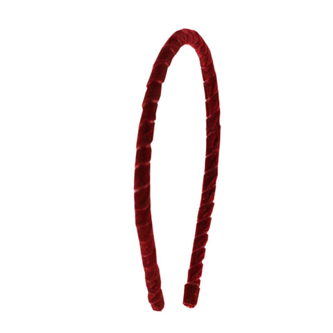 Red Color Plain Acrylic Hair band - man489