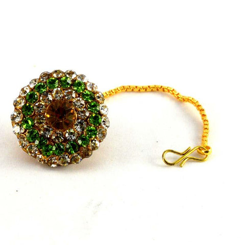 Multi Color Stone Stud-Handmade Pure Lakh Borla - man60