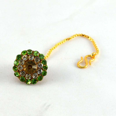 Multi Color Stone Stud-Handmade Pure Lakh Borla - man61