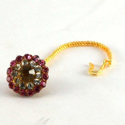 Multi Color Stone Stud-Handmade Pure Lakh Borla - man62