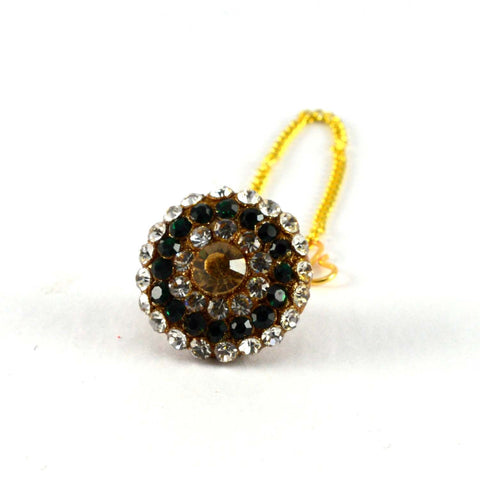 Multi Color Stone Stud-Handmade Pure Lakh Borla - man63