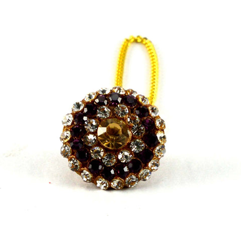 Multi Color Stone Stud-Handmade Pure Lakh Borla - man64