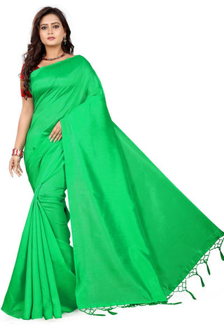 Red Color Silk Saree - more-green-red