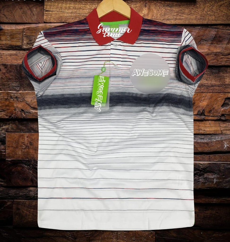 Buy Multi Color Cotton Men T-Shirt