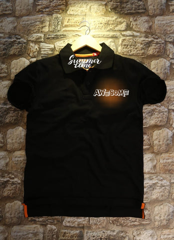 Black Color Cotton Men T-Shirt - natido-207