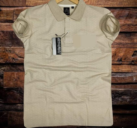 Cream Color Cotton Men T-Shirt - natido-215