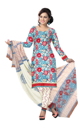 Multi Color Cotton UnStitched Salwar  - navjeetarts-41
