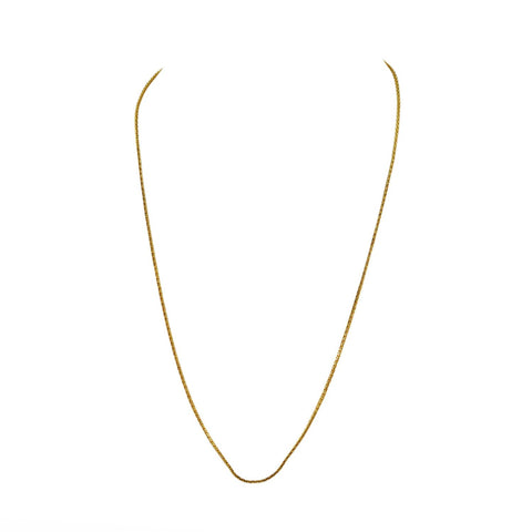 Golden Color Gold Platted  Brass Chain - nec2077