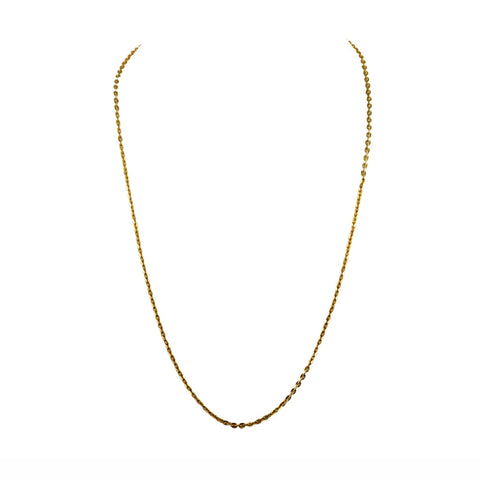 Golden Color Gold Platted  Brass Chain - nec2078