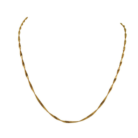 Golden Color Gold Platted  Brass Chain - nec2079