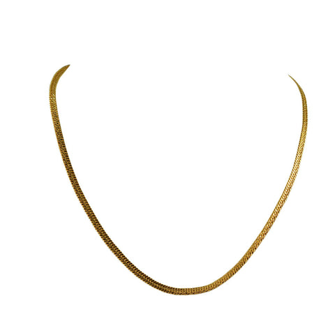 Golden Color Gold Platted  Brass Chain - nec2080