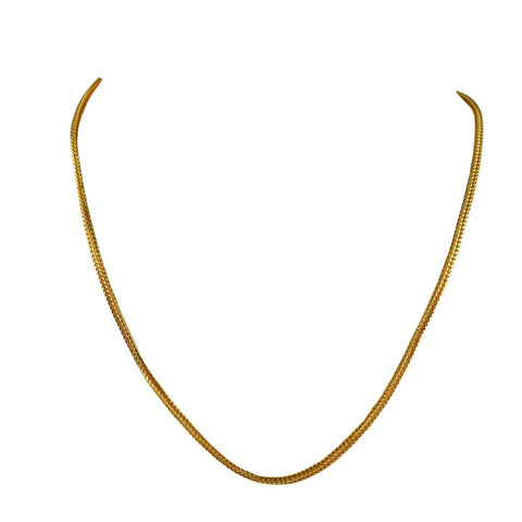 Golden Color Gold Platted  Brass Chain - nec2081