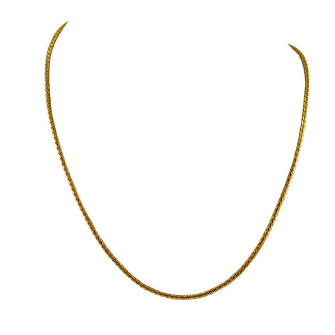 Golden Color Gold Platted  Brass Chain - nec2082
