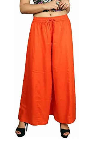 Orange Color Rayon Women's Palazzo - plz005