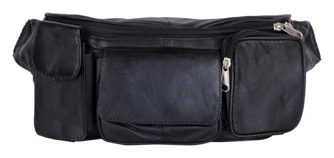 Black Color Leather Unisex Travel Bag - pw27