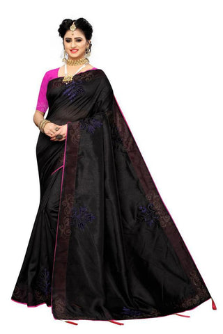 Black Color Zoya Silk Women's Saree - s-1134