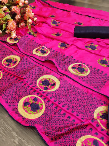 Pink Color silk Women's Saree - s-1139