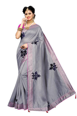 Grey Color Zoya Silk Women's Saree - s-2134